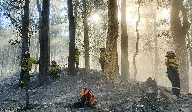 Remote Area Firefighting Teams (RAFT) are highly effective in controlling fires in remote, rugged areas that can't be accessed by trucks. TIm Johnson/DPIE