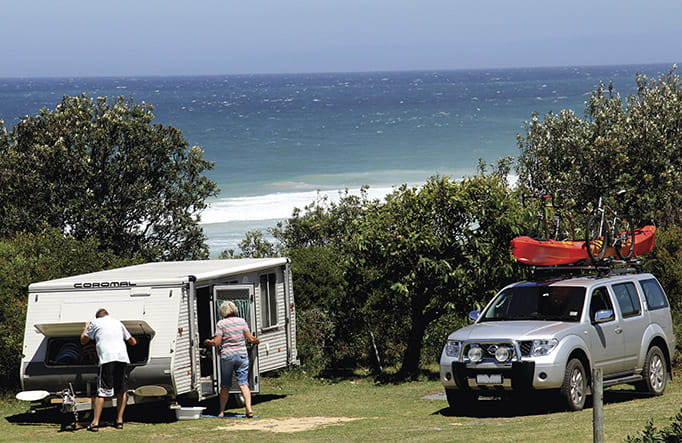 Gillards Beach campground, Mimosa Rocks National Park. Photo: John Yurasek/OEH