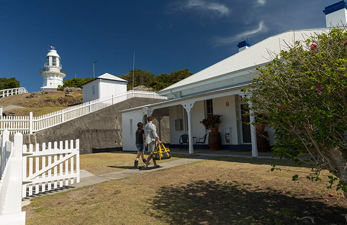 Smoky Cape Lighthouse Cottages, Hat Head National Park. Photo: David Finnegan
