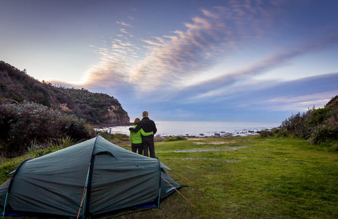 Sydney camping at Little Beach. Photo: Eduardo Martinez