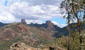 Views looking towards the Grand High Tops, Warrumbungle National Park. Photo: John Spencer