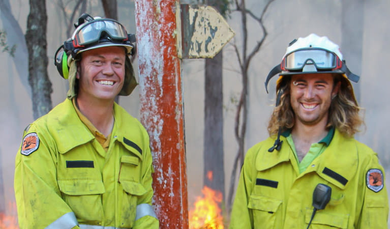 NPWS firefighters, Blue Mountains National Park. Photo: Angela Standley