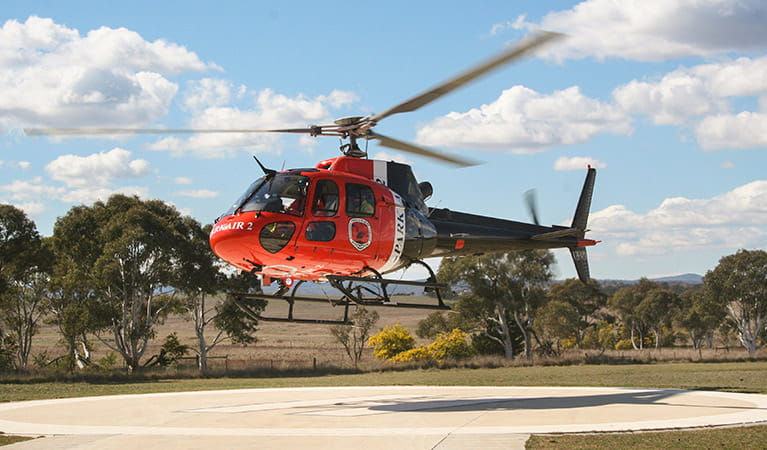 Park Air 2 helicopter, Feral Animal Aerial Shooting Team (FAAST). Photo: Lucy Morell
