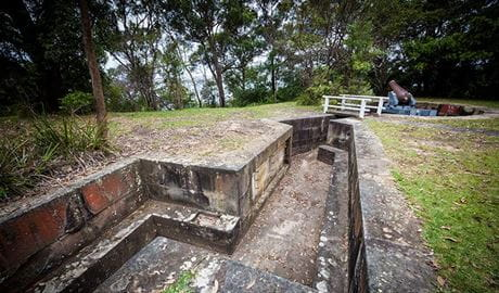 Military relics at Bradleys Head, Sydney Harbour National Park. Photo: David Finnegan