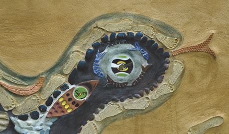 Aboriginal mural, Bomaderry Creek Regional Park. Photo: Michael Van Ewijk/OEH