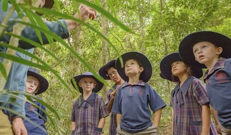 Students being guided on a school excursion in a NSW national park. Photo: J. Spencer/OEH