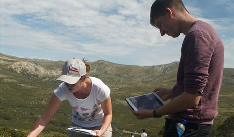 Students in Kosciuszko National Park. Photo: Dan Nicholls/OEH