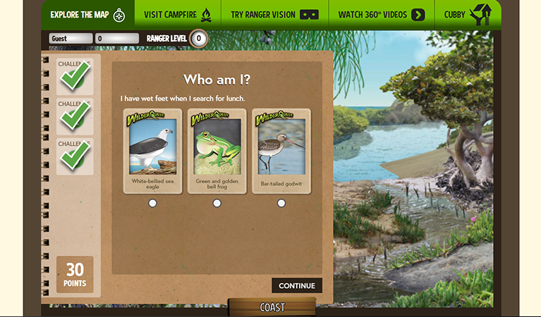 Wilderquest in the Classroom digital resource.