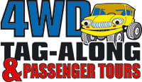 4WD Tag-Along and Passenger Tours logo. Photo © 4WD Tag-Along and Passenger Tours