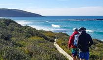 Youth trekking along The Coast track in Royal National Park. Photo: Alex Brown © Ausjourney