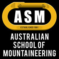 Australian School of Mountaineering logo. Image © Australian School of Mountaineering