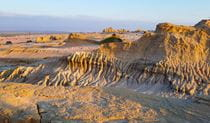 Eroded sand and clay formations of the Walls of China in Mungo National Park. Photo © Desert Sky Tours