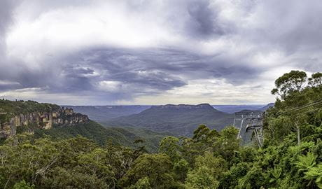 The scenic view of plateaus and bushland from a lookout in Morton National Park. Photo © O'Shannessy's Quality Tours