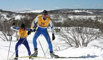 2 cross-country skiers on a Perisher X-Country activity in the Thredbo-Perisher area of Kosciuszko National Park. Photo: © Perisher X-Country