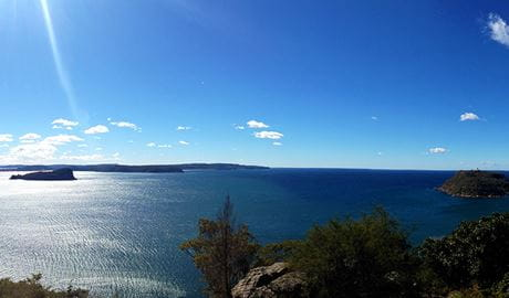 Ocean and coastal views from West Head lookout in Ku-ring-gai Chase National Park. Photo credit: Steve Hulme © Sydney Scenic Trails