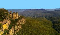 View of Three Sisters rock formations in Blue Mountains National Park. Photo credit: Bruce Josephs © Travel Ideology