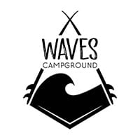 Waves Campground logo. Photo © Waves Campground