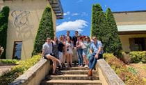 A group of friends on a private wine tour with Your Sydney Guide. Photo: Scott Ricketts © Your Sydney Guide