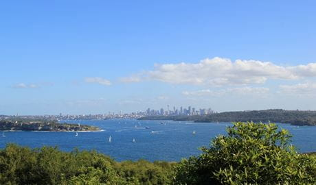 View from North Head in Sydney Harbour National Park. Phot: N Webb/DPIE
