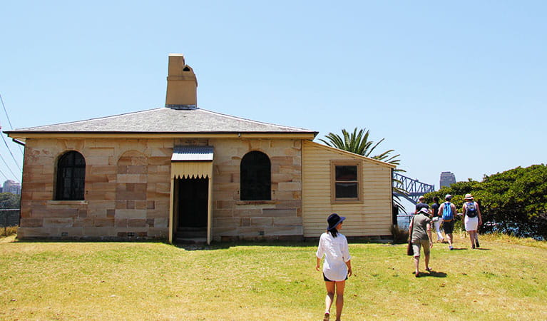 Cottage on Goat Island in Sydney Harbour National Park. Photo: Natasha Webb/OEH