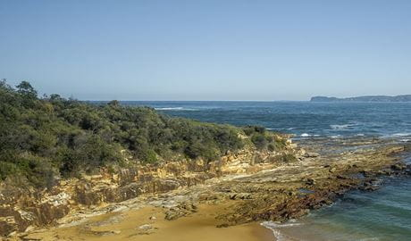 Coastal rock formations along Putty Beach, Bouddi National Park. Photo: John Spencer/DPIE