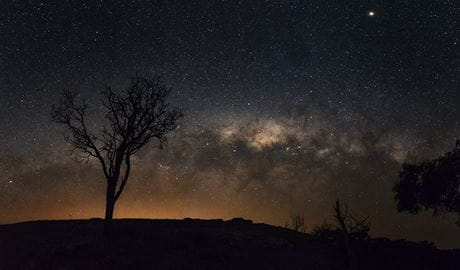 The night sky over Warrumbungle National Park. Photo: Brad LeBroque/the photographer