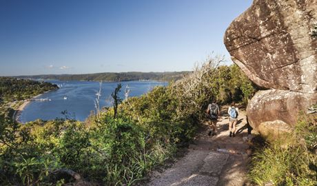 Walkers on track to Barrenjoey Lighthouse in Ku-ring-gai Chase National Park. Photo: David Finnegan/DPIE