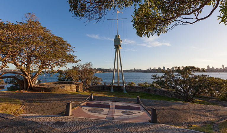 Bradleys Head mast, Sydney Harbour National Park. Photo: David Finnegan