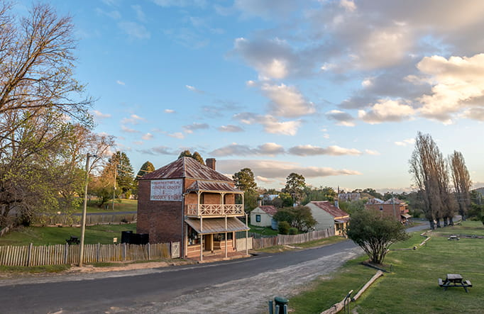 Main road of Hill End Historic Site. Photo: John Spencer