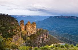Echo Point lookout (Three Sisters), Blue Mountains National Park. Photo: David Finnegan