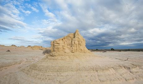 Dramatic formations of sand and silt along the Walls of China in Mungo National Park. Photo: Vision House Photography/OEH