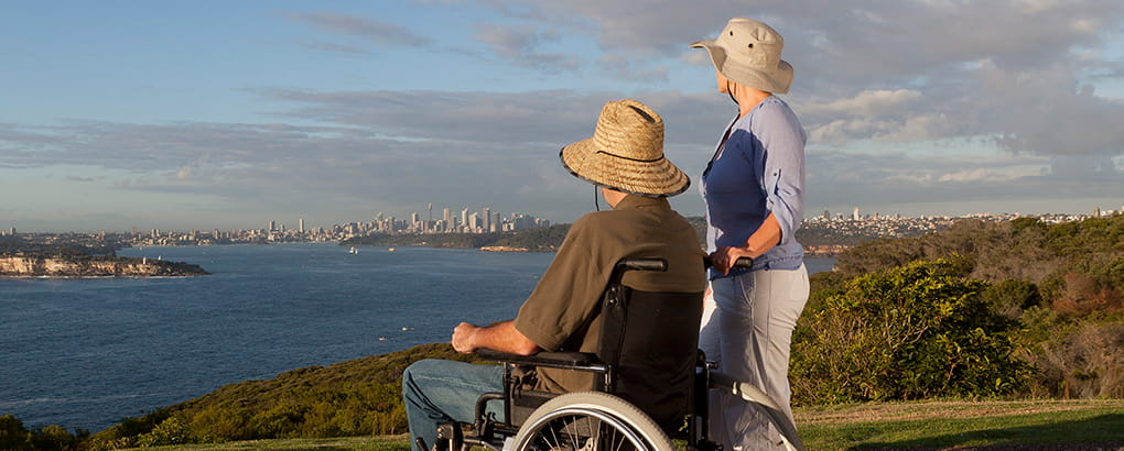 Wheelchair access, Sydney Harbour National Park. Photo: David Finnegan
