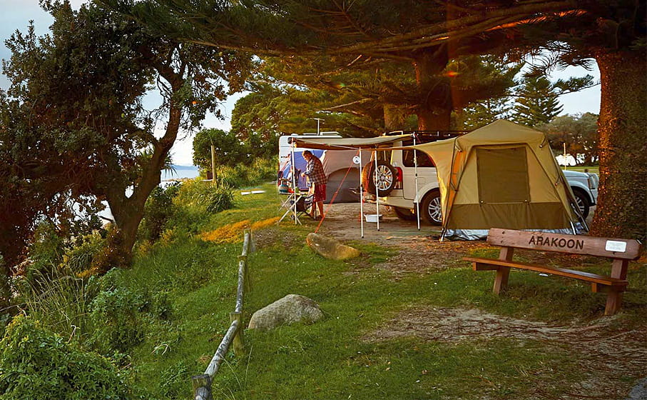 Trial Bay campground, Arakoon National Park. Photo: Nick Cubbin/OEH.