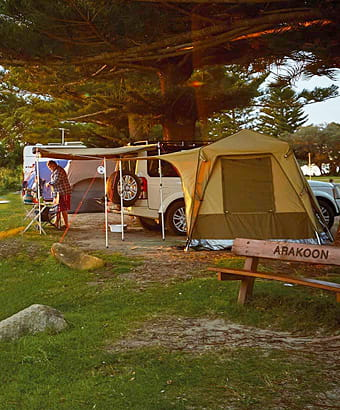 Camping at Arakoon National Park. Photo: N Cubbin/OEH.