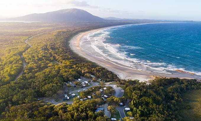 Diamond Head campground, Crowdy Bay National Park. Photo credit: Robert Mulally © DPIE