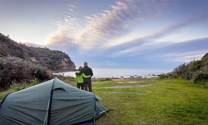 Camping at Little Beach, Bouddi National Park. Photo: Copyright Eduardo Martinez