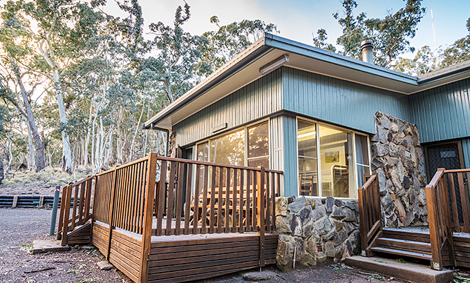 Outside view of Dawsons Spring Cabins in Mount Kaputar National Park. Photo: Simone Cottrell/OEH