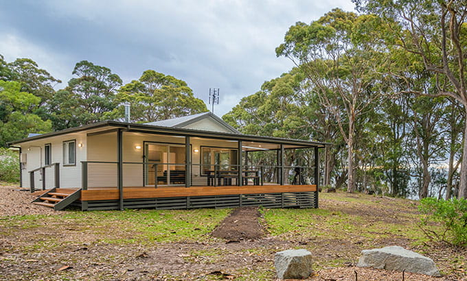 Exterior view of Judges House cottage in Murramarang National Park. Photo: John Spencer © DPIE