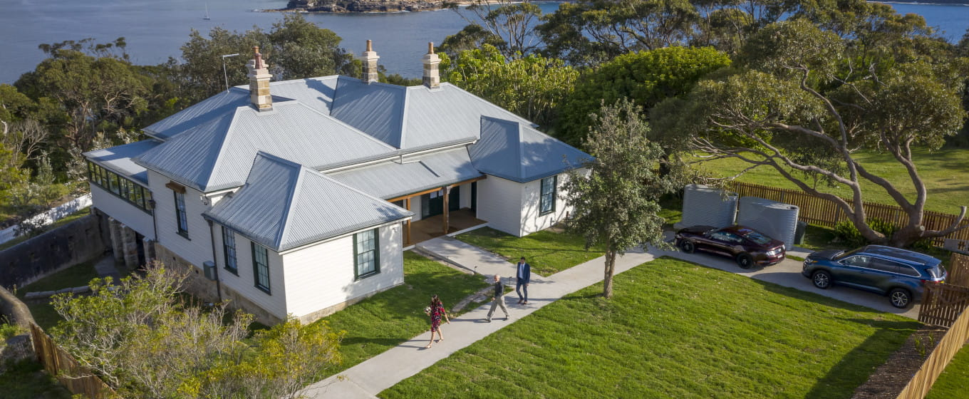 Middle Head Officers Quarters Sydney Harbour National Park. Photo credit: John Spencer © DPIE