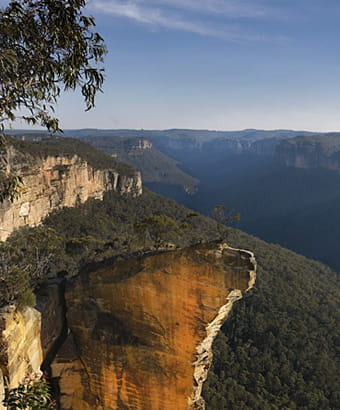 View of Burramoko Ridge (Hanging Rock) in Blue Mountains National Park. Photo: David Finnegan © DPIE