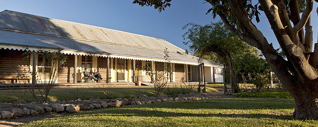 Exterior of Yanga Homestead historic building in Yanga National Park. Photo: David Finnegan © DPIE