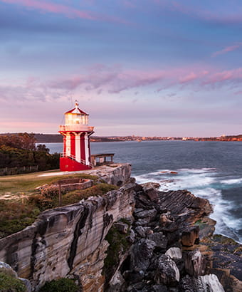 View of Hornby Lighthouse at South Head, Sydney Harbour National Park. Photo: David Finnegan/DPIE