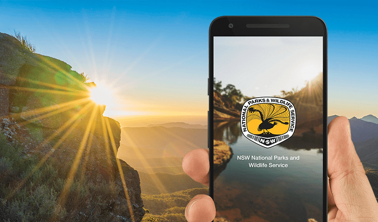 NSW National Parks app home screen. Photo: OEH