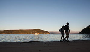 Walkers on the Barrenjoey Lighthouse track, Ku-ring-gai Chase national Park. Photo: OEH