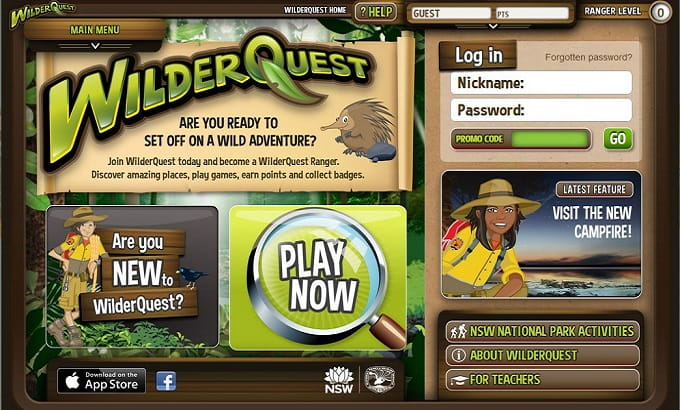 WilderQuest website.