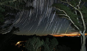 Starry night sky in Warrumbungle National Park. Photo: Colin Whelan