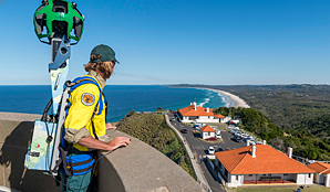 Google Trekker at Cape Byron State Conservation Area. Photo: J Spencer/OEH.