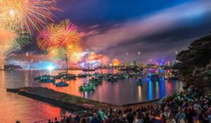 NYE 2014 at Bradleys Head in Sydney Harbour National Park. Photo: John Spencer/OEH