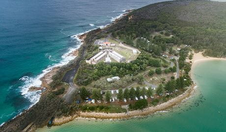 Aerial view of Trial Bay. Photo: Rob Mulally/DPIE