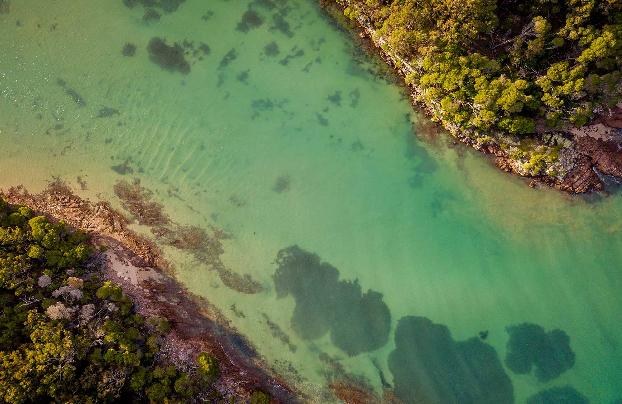 Aerial view of Bittangabee Bay, Ben Boyd National Park. Photo: John Spencer/OEH